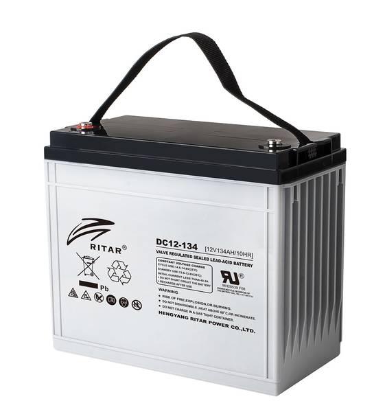Bilde av RITAR AGM Deep Cycle Batteri 12V 134AH (340x173x280mm) +venstre