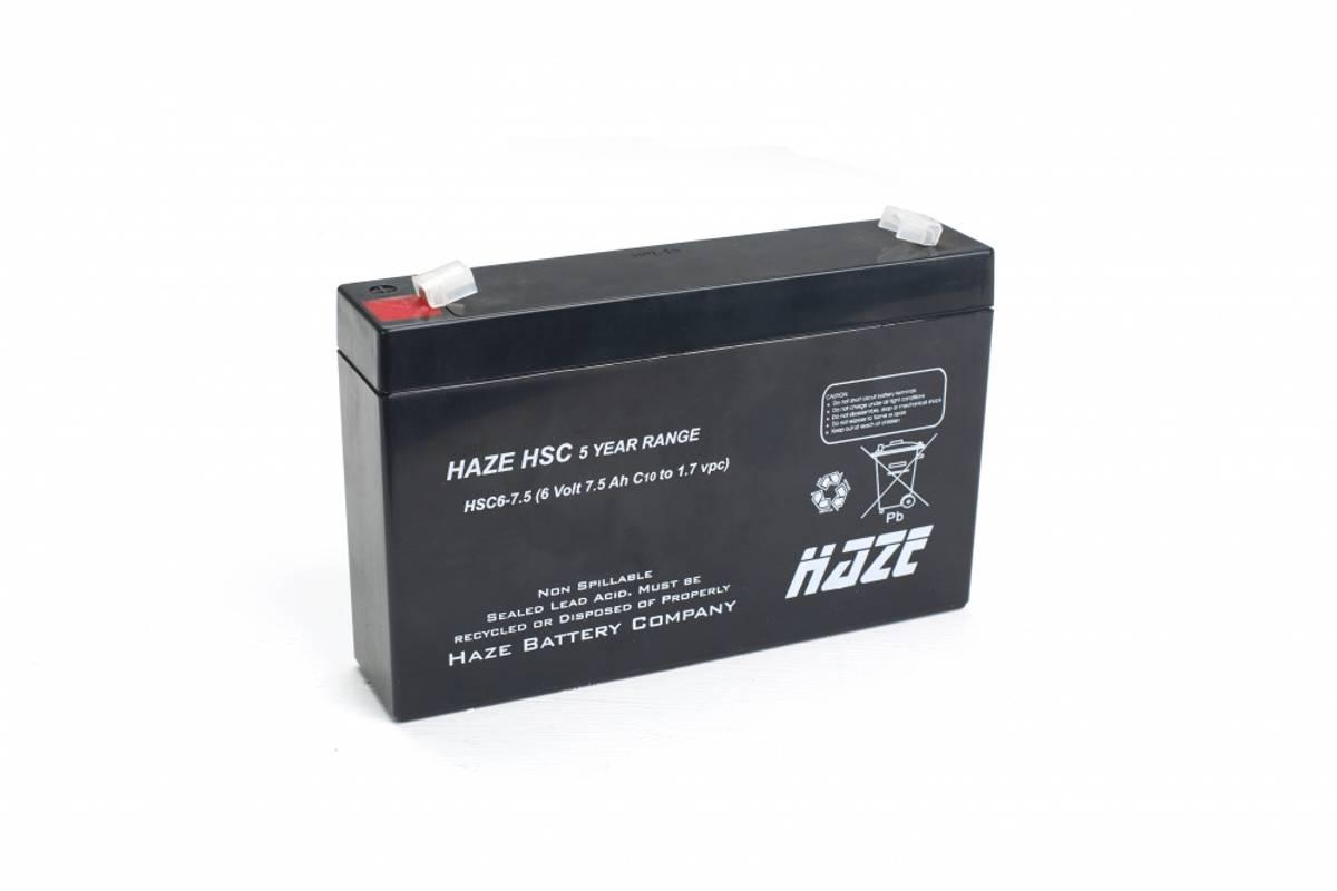 HAZE HSC6-7.5 6V 7.5Ah T1