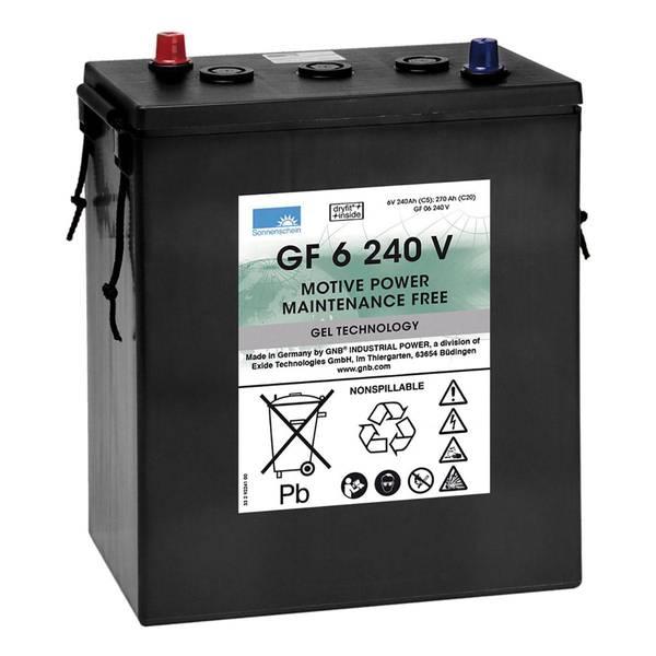 Bilde av SONNENSCHEIN GEL Batteri 6V 240AH (312x180x359mm) +diagonalt