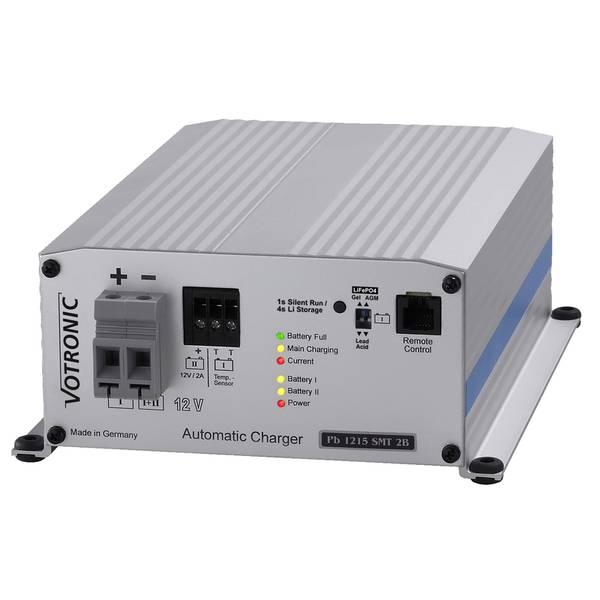 Bilde av VOTRONIC PB1215 Elektronisk Batterilader 12V 15A - 2 kanaler