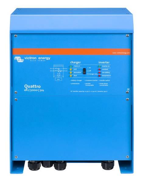 Bilde av VICTRON Quattro 12/5000/220-100 Kombinert Batterilader og Invert