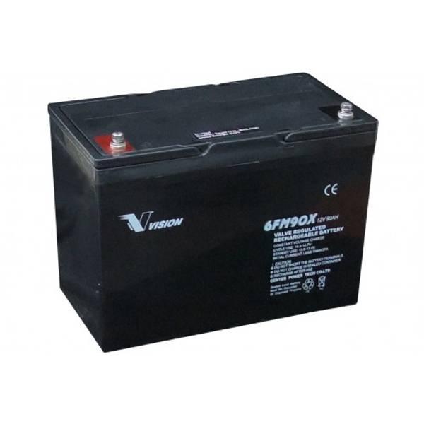 Bilde av VISION AGM Batteri 12V 90AH (306x169x215mm)