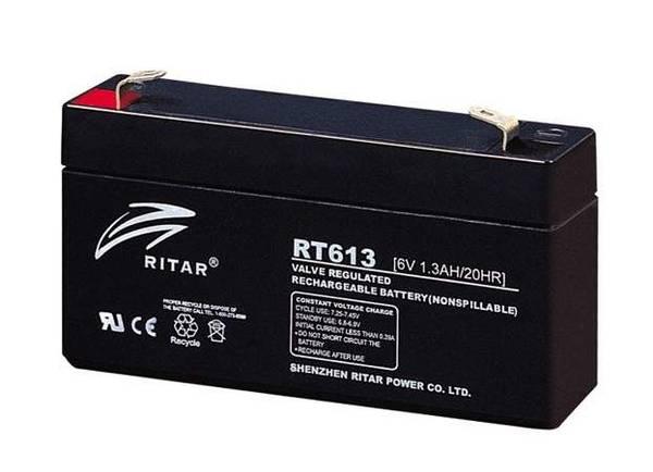 Bilde av RITAR AGM Batteri 6V 1,3AH (94x24x52mm) F1