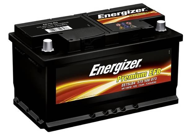 Bilde av EE75LB4 ENERGIZER Premium EFB Batteri 12V 75AH 730CCA (315x175x1