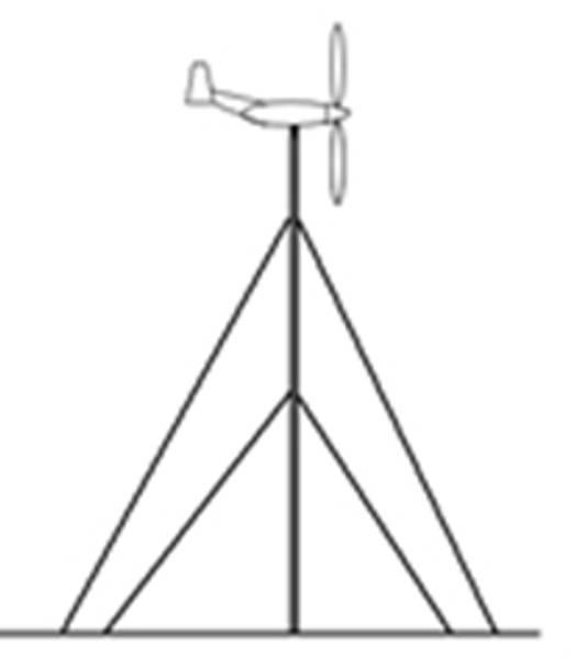 Bilde av Mast 6m til Vindturbin (Opp til 400w)