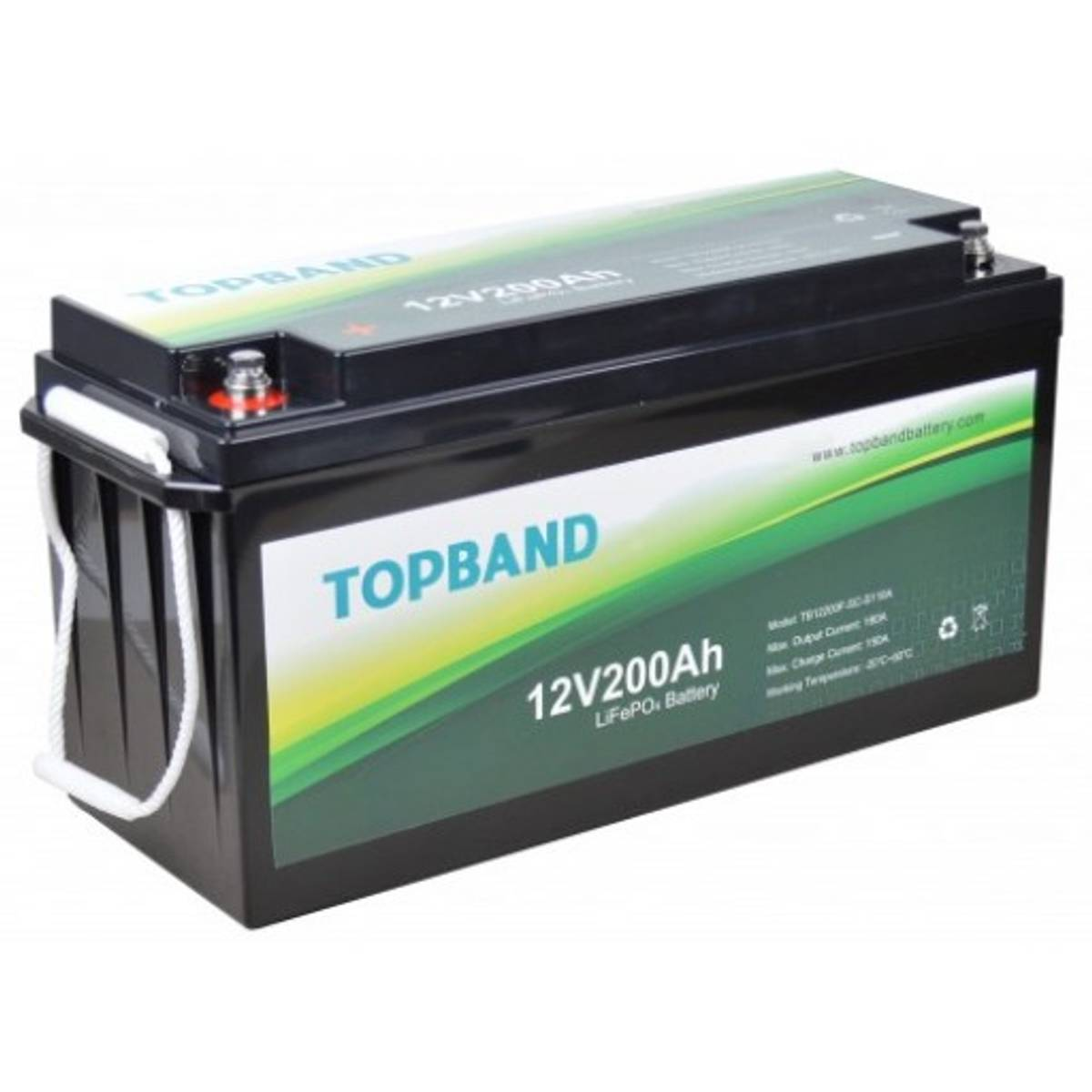 TOPBAND Lithium HEAT PRO - 12V 200AH - 200A BMS - Bluetooth