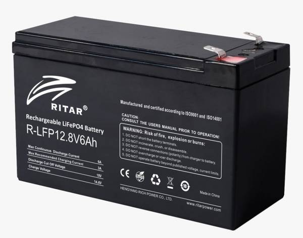 Bilde av RITAR Lithium Batteri 12V 6Ah (LiFePO4)