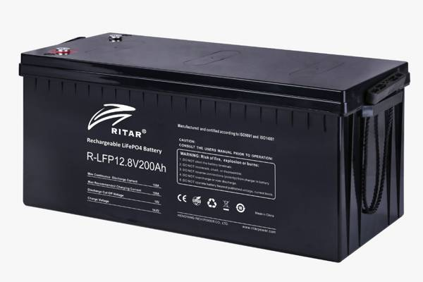 Bilde av RITAR Lithium Batteri 12V 200Ah (LiFePO4) BMS 100A