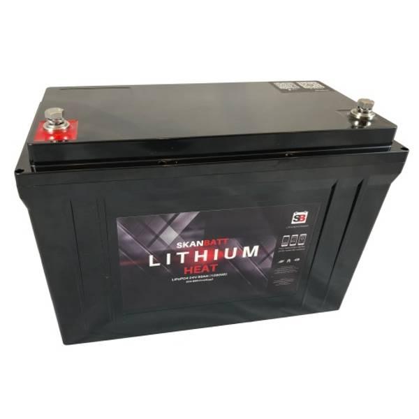 Bilde av SKANBATT HEAT Lithium Batteri 24V 50AH 50BMS - BLUETOOTH OG VARM