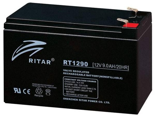 Bilde av RITAR AGM Batteri 12V 9AH (151x65x94mm) F1