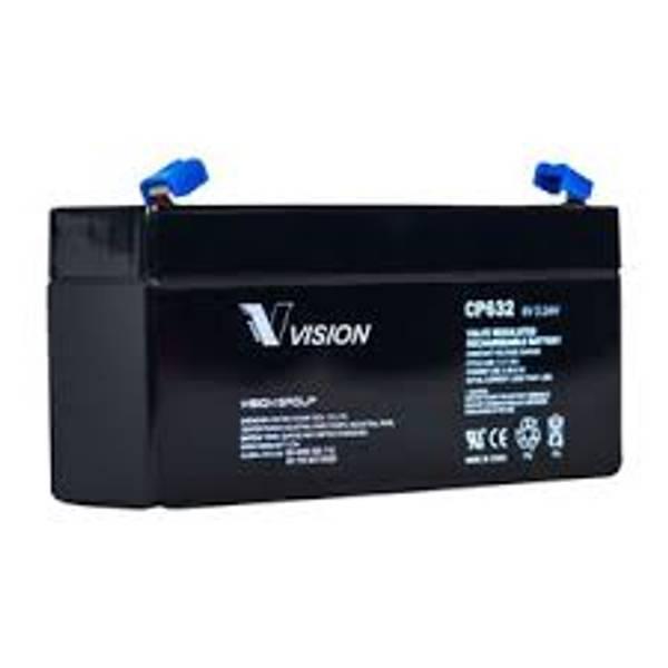 Bilde av Vision AGM Batteri 6V 3,2Ah (134x34x67mm)