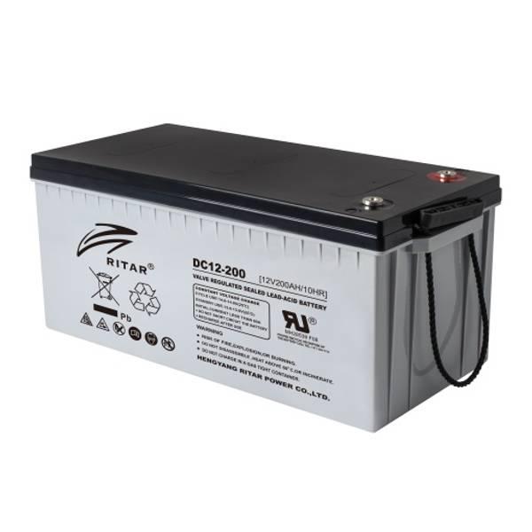 Bilde av RITAR AGM Deep Cycle Batteri 12V 200AH (522x240x219mm) +høyre 29