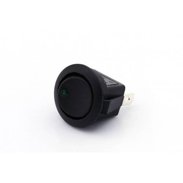 Bilde av Mini vippebryter 12V / 16A LED grønn på-av