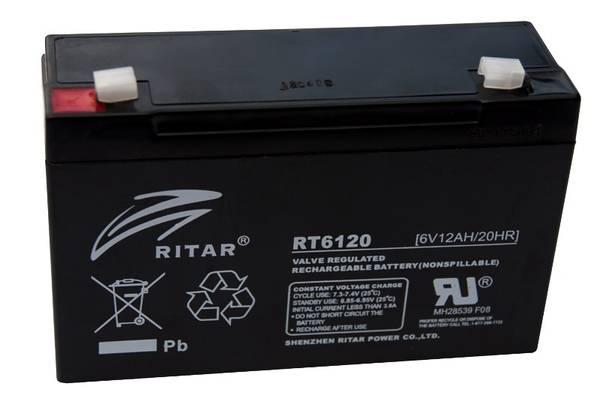 Bilde av RITAR AGM Batteri 6V 12AH (151x50x95mm) F1