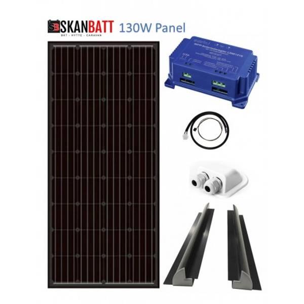 Bilde av SKANBATT Solcellepakke Bobil (Schaudt EBL) 130W Schaudt LRM1218B