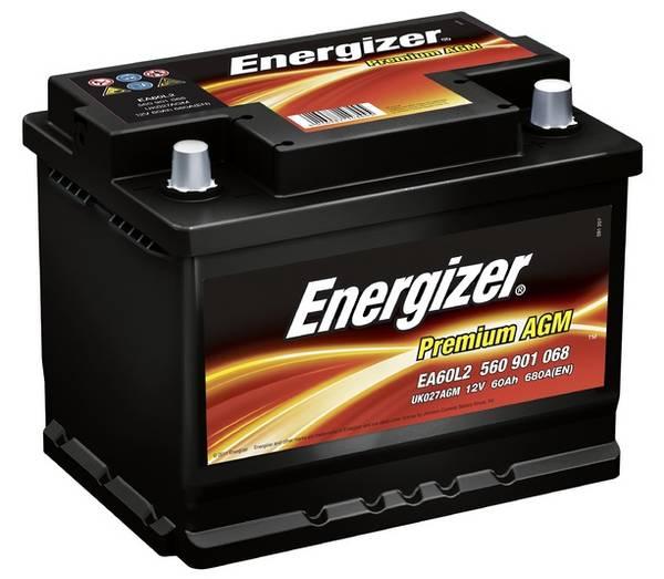 Bilde av EA60L2 ENERGIZER Premium AGM Batteri 12V 60AH 680CCA (242x175x19