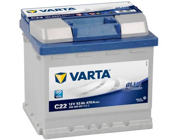 Bilde av VARTA C22 Blue Dynamic Batteri 12V 52AH 470CCA (207x175x190/190)