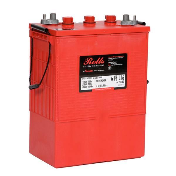 Bilde av ROLLS 6-FS-L16 Deep Cycle Batteri 6V 375AH (318x181x425mm)