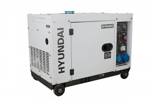 Bilde av HYUNDAI DHY8600SE 3FAS -230V - Elektrisk start - Diesel
