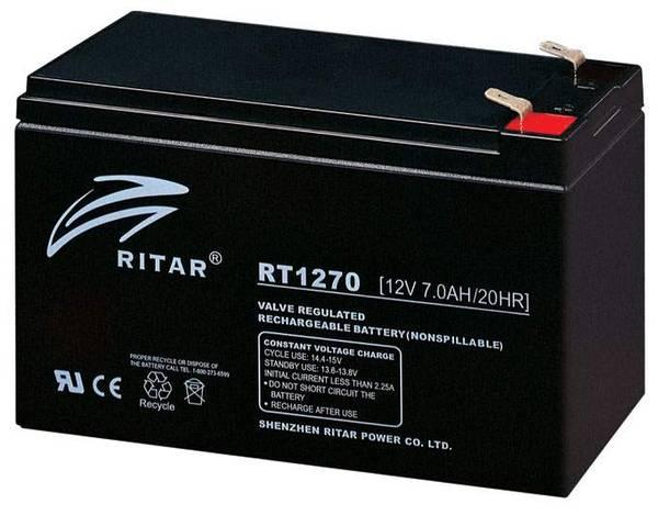 Bilde av RITAR AGM Batteri 12V 7AH (151x65x94mm) F2