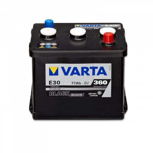 Bilde av VARTA E30 Promotive Black Batteri 6V 77AH 360CCA (216x170x191)