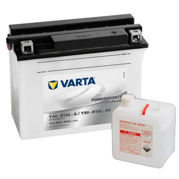 Bilde av  VARTA Y50-N18L-AMC Batteri 12V 20AH 260CCA (207x92x164mm) +høyr