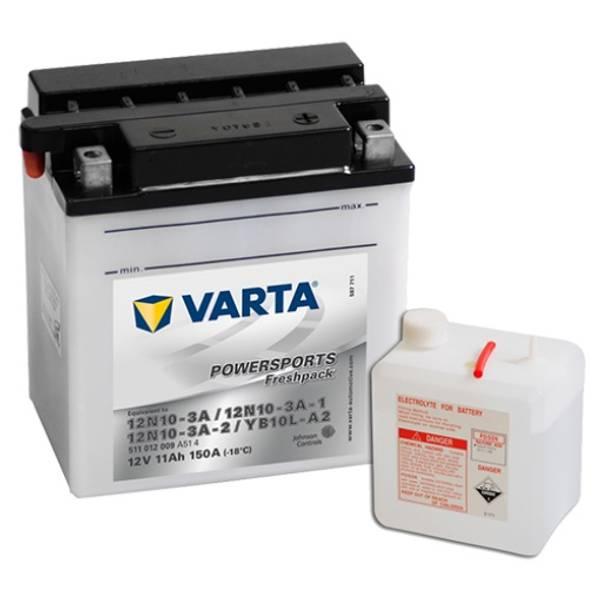 Bilde av  VARTA YB10L-A2 MC Batteri 12V 11AH 150CCA (136x91x146mm) +høyre
