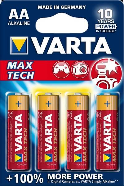 Bilde av VARTA Max Tech AA 1,5V 4-pakning