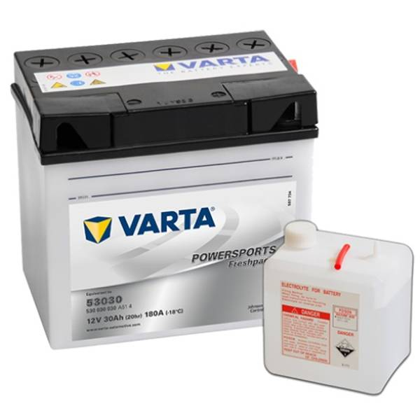 Bilde av  VARTA 53030 MC Batteri 12V 30AH 180CCA (186x130x171mm) +høyre 5