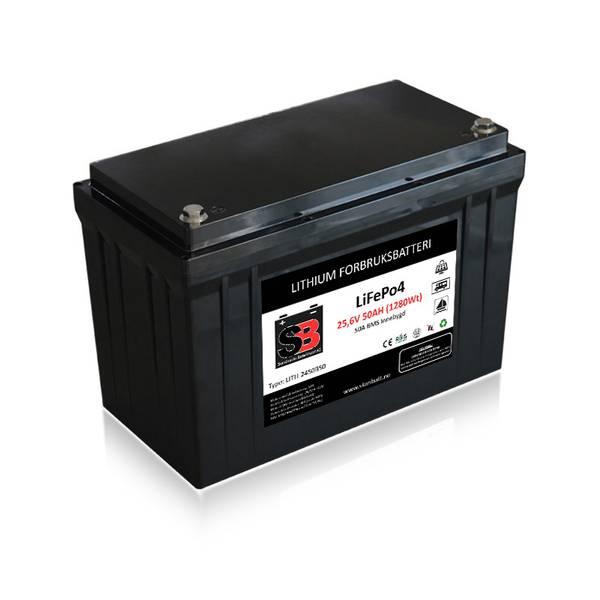 Bilde av SKANBATT Lithium Batteri 24V 50AH 50A BMS