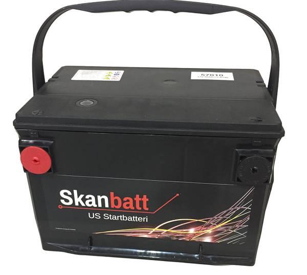 Bilde av SKANBATT Startbatteri 12V 80AH 800CCA (260x179x180/180mm) +venst