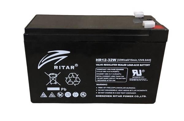 Bilde av RITAR High Rate AGM Batteri 12V 8AH (151x65x93,5mm) F1