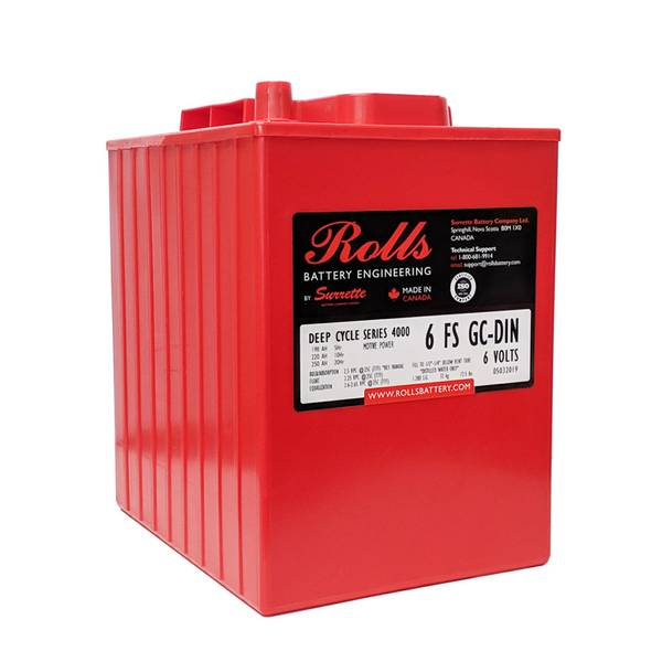 Bilde av ROLLS 6-FS-GC-DIN Deep Cycle Batteri 6V 250AH (244x191x275mm)