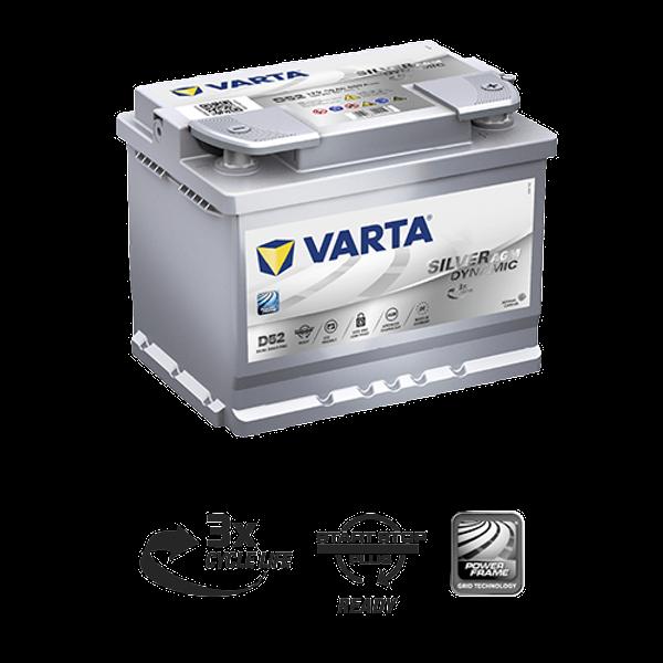 Bilde av VARTA D52 Silver Dynamic AGM Batteri 12V 60AH 680CCA