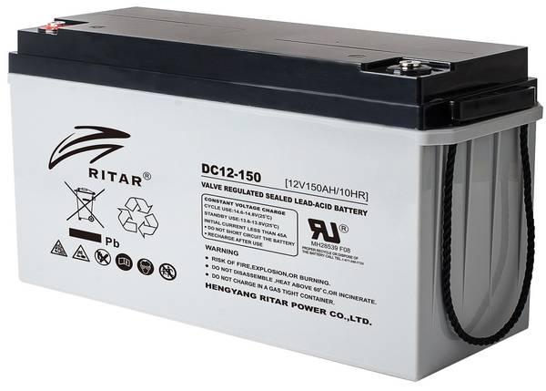 Bilde av RITAR AGM Deep Cycle Batteri 12V 150AH (483x170x241mm) +venstre