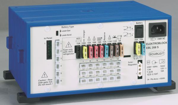 Bilde av Schaudt EBL208S+LT420 display og strømsentral for bobiler