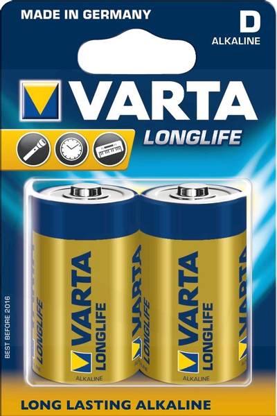 Bilde av VARTA Longlife D 1,5V 2-pakning