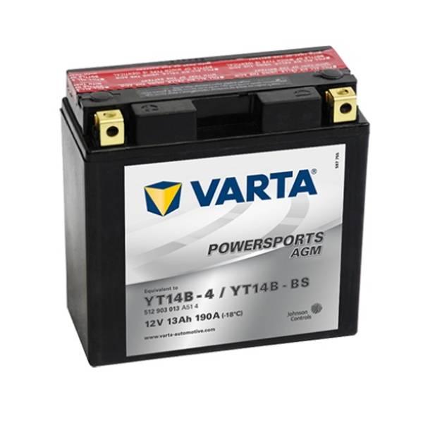 Bilde av  VARTA YT14B-BS AGM MC Batteri 12V 12AH 190CCA (152x70x150mm) +v