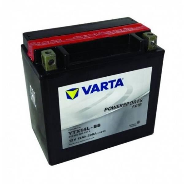 Bilde av  VARTA YTX14L-BS AGM MC Batteri 12V 12AH 200CCA (150x87x146mm) +
