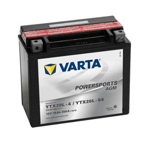 Bilde av  VARTA YTX20L-BS AGM MC Batteri 12V 18AH 250CCA (177x88x156mm) +
