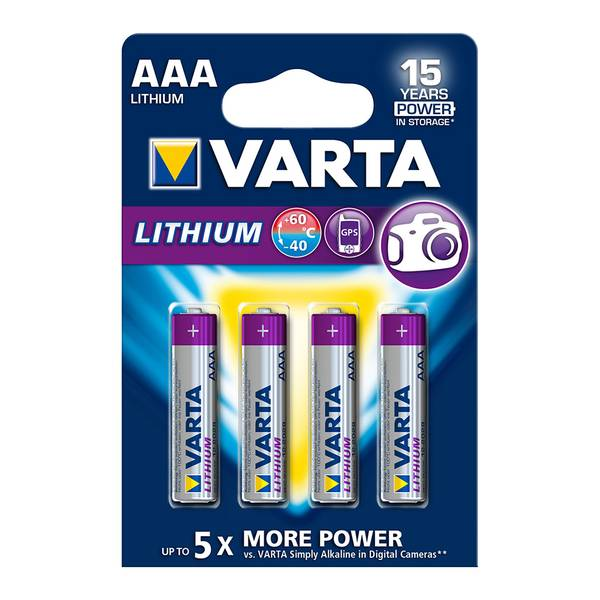 Bilde av VARTA Lithium AAA 1,5V 4-pakning