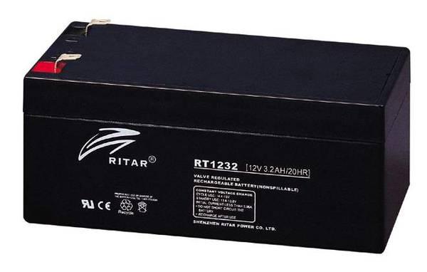 Bilde av RITAR AGM Batteri 12V 3,2AH (134x67x61mm) F1