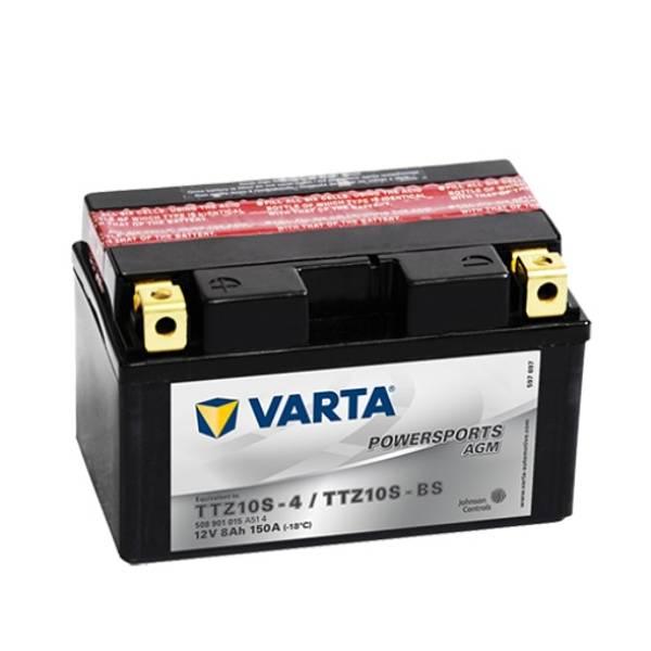 Bilde av  VARTA TTZ10S-BS AGM MC Batteri 12V 8AH 150CCA (150x87x93mm) +ve