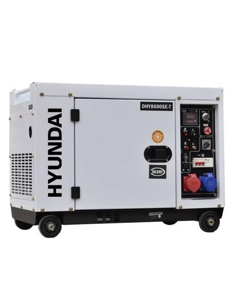 Bilde av HYUNDAI DHY8600SE-T Aggregat 7900W - Elektrisk start - Diesel