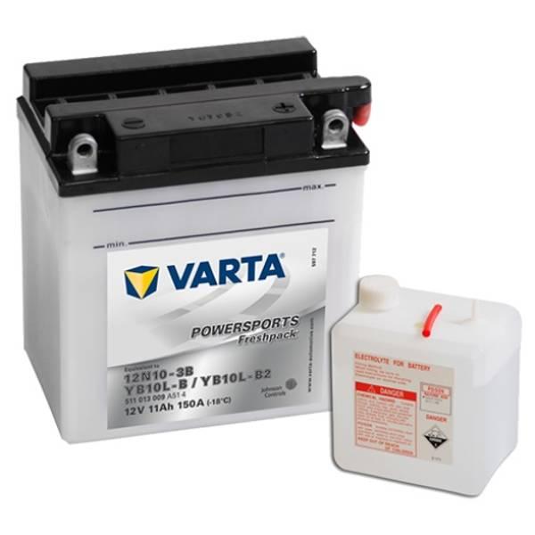 Bilde av VARTA YB10L-B2 MC Batteri 12V 11AH 150CCA (136x91x146mm) +høyre