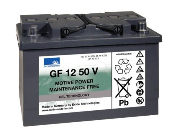 Bilde av SONNENSCHEIN GEL Batteri 12V 50AH (278x175x190mm) +høyre