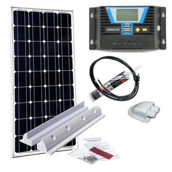 Bilde av WATTSTUNDE Solcellepakke 160W til bobil (komplett)