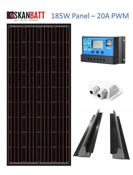 Bilde av SKANBATT Solcellepakke Bobil 185W - PWM20A - Basic