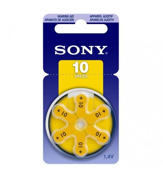 Bilde av SONY Høreapparatbatteri PR10 - 6pk