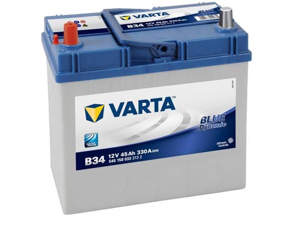 Bilde av VARTA B34 Blue Dynamic Batteri 12V 45AH 330CCA (238x129x200/227)